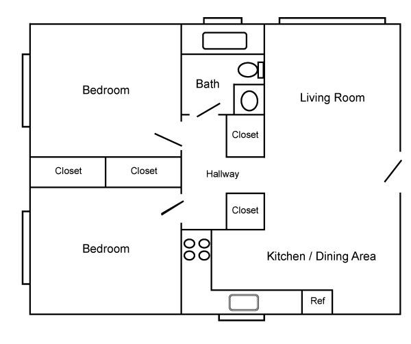 2 Bed/1 Bath
